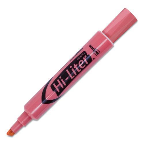 HI-LITER Desk-Style Highlighters, Chisel Tip, Light Pink, Dozen, (7749). Picture 8