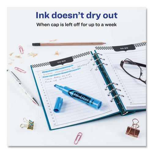 HI-LITER Desk-Style Highlighters, Chisel Tip, Light Blue, Dozen, (7746). Picture 2