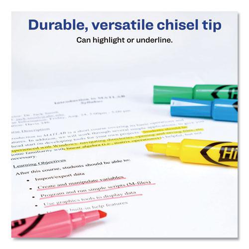HI-LITER Desk-Style Highlighters, Chisel Tip, Assorted Colors, 4/Set. Picture 3