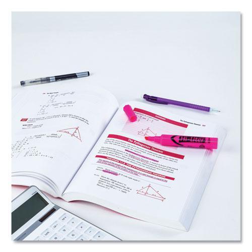 HI-LITER Desk-Style Highlighters, Chisel Tip, Fluorescent Pink, Dozen. Picture 6