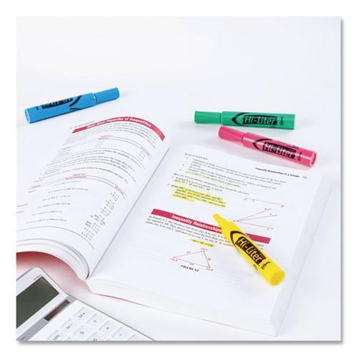 HI-LITER Desk-Style Highlighters, Chisel Tip, Assorted Colors, 4/Set. Picture 5