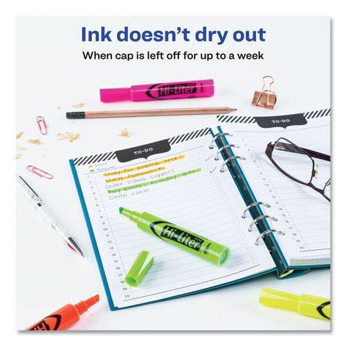HI-LITER Desk-Style Highlighters, Chisel Tip, Assorted Colors, 4/Set. Picture 4