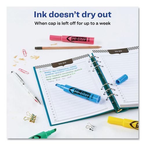 HI-LITER Desk-Style Highlighters, Chisel Tip, Assorted Colors, 4/Set. Picture 6