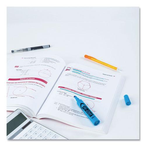HI-LITER Desk-Style Highlighters, Chisel Tip, Fluorescent Blue, Dozen. Picture 5