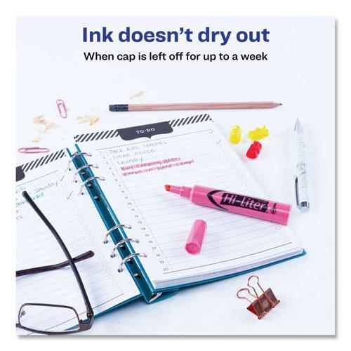 HI-LITER Desk-Style Highlighters, Chisel Tip, Light Pink, Dozen, (7749). Picture 5