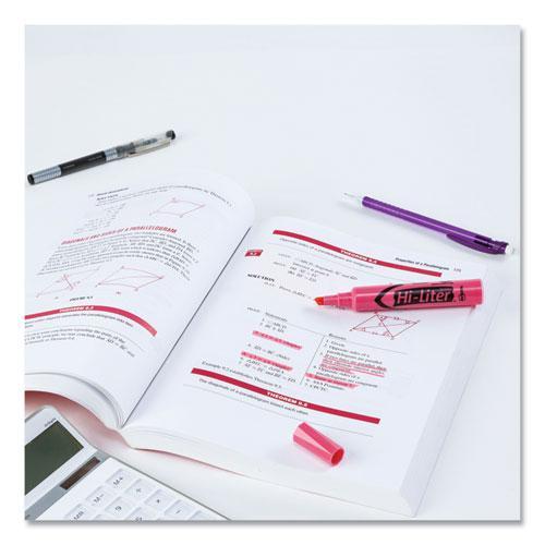 HI-LITER Desk-Style Highlighters, Chisel Tip, Light Pink, Dozen, (7749). Picture 6