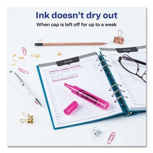 HI-LITER Desk-Style Highlighters, Chisel Tip, Fluorescent Pink, Dozen. Picture 5