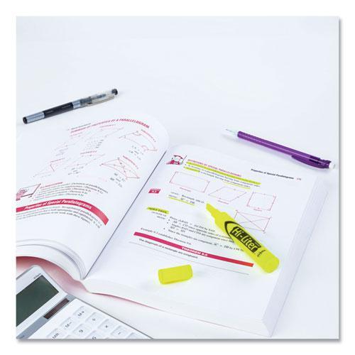 HI-LITER Desk-Style Highlighters, Chisel Tip, Fluorescent Yellow, Dozen. Picture 2