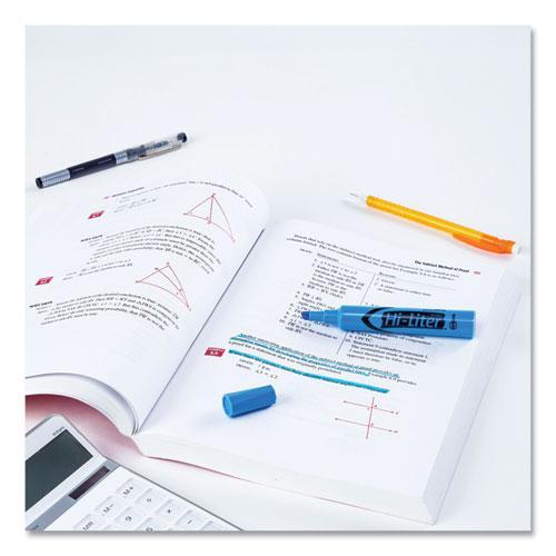 HI-LITER Desk-Style Highlighters, Chisel Tip, Light Blue, Dozen, (7746). Picture 9