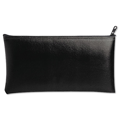 Leatherette Zippered Wallet, Leather-Like Vinyl, 11w x 6h, Black. Picture 2