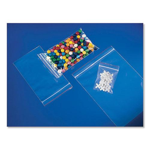 Reclosable Zip Poly Bags, 2 mil, 10 x 13, Clear, 1,000/Carton. Picture 1