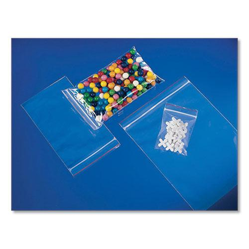 Reclosable Zip Poly Bags, 2 mil, 3 x 3, Clear, 1,000/Carton. Picture 1
