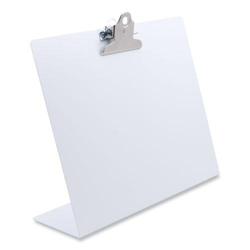 """Free Standing Clipboard, Landscape, 1"""" Clip Capacity, 11 x 8.5 Sheets, White. Picture 1"""