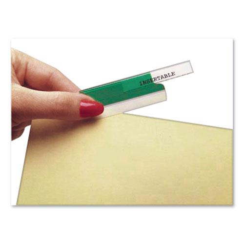 """Insertable Index Tabs with Printable Inserts, 1/5-Cut Tabs, Assorted Colors, 1"""" Wide, 25/Pack. Picture 2"""
