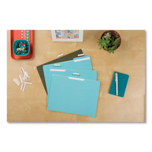 """Insertable Index Tabs with Printable Inserts, 1/5-Cut Tabs, Clear, 1.5"""" Wide, 25/Pack. Picture 4"""