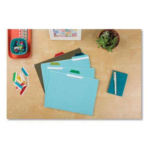 """Insertable Index Tabs with Printable Inserts, 1/5-Cut Tabs, Assorted Colors, 2"""" Wide, 25/Pack. Picture 4"""