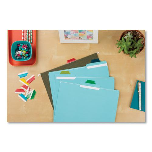 """Insertable Index Tabs with Printable Inserts, 1/5-Cut Tabs, Assorted Colors, 1.5"""" Wide, 25/Pack. Picture 5"""