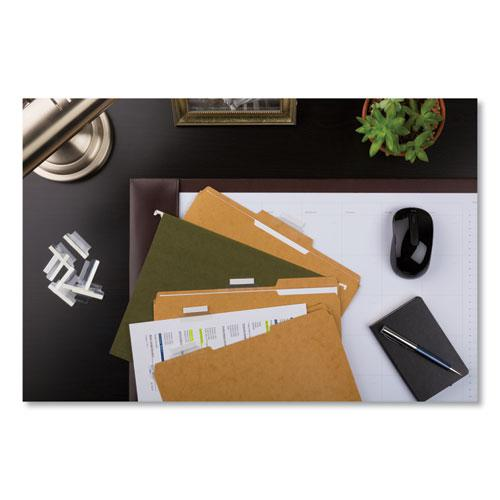 """Insertable Index Tabs with Printable Inserts, 1/5-Cut Tabs, Clear, 1.5"""" Wide, 25/Pack. Picture 3"""