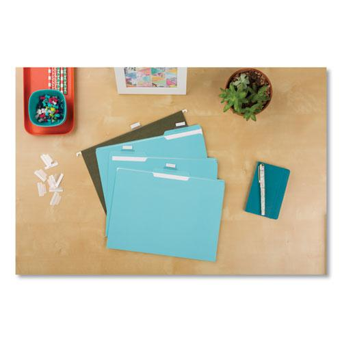 """Insertable Index Tabs with Printable Inserts, 1/5-Cut Tabs, Clear, 1"""" Wide, 25/Pack. Picture 2"""
