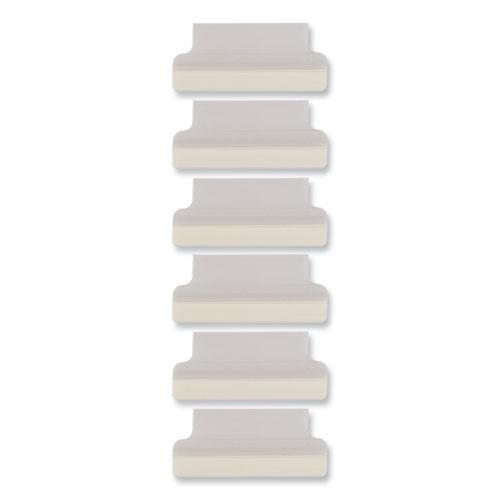 """Insertable Index Tabs with Printable Inserts, 1/5-Cut Tabs, Clear, 1.5"""" Wide, 25/Pack. Picture 5"""