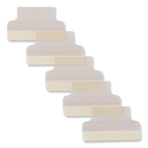 """Insertable Index Tabs with Printable Inserts, 1/5-Cut Tabs, Clear, 1"""" Wide, 25/Pack. Picture 3"""