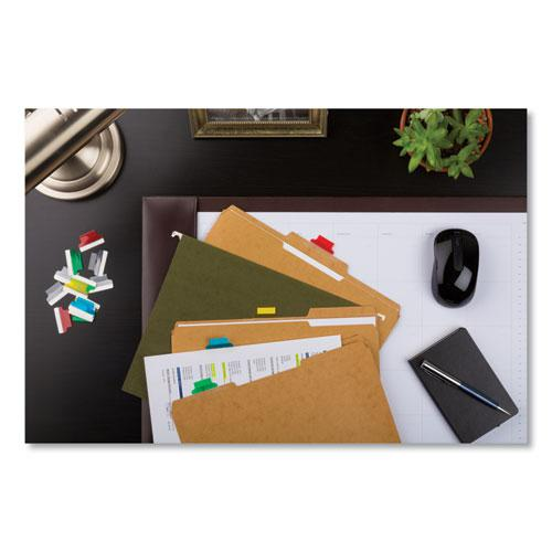 """Insertable Index Tabs with Printable Inserts, 1/5-Cut Tabs, Assorted Colors, 1"""" Wide, 25/Pack. Picture 4"""