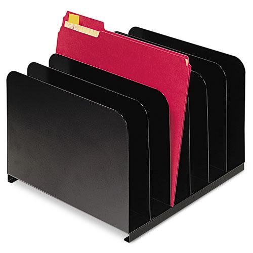 Desktop Vertical Organizer Six Sections Steel 12 X 11 X