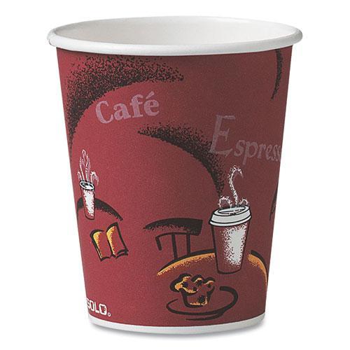 Solo Bistro Design Hot Drink Cups, Paper, 10oz, 1000/Carton. Picture 1