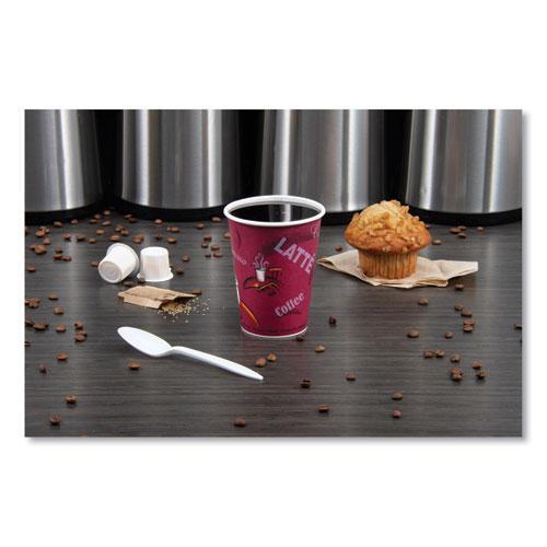 Solo Bistro Design Hot Drink Cups, Paper, 12oz, Maroon, 50/Bag, 20 Bags/Carton. Picture 2