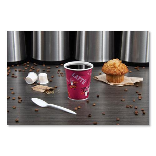 Solo Bistro Design Hot Drink Cups, Paper, 10oz, 50/Pack. Picture 3