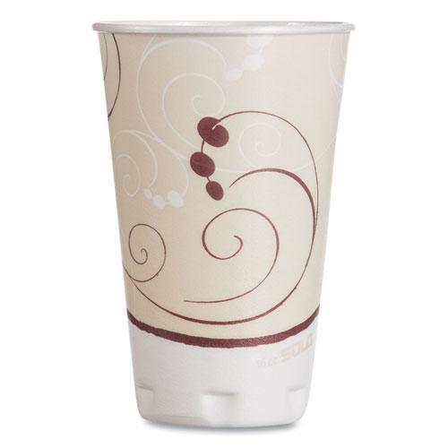 Symphony Design Trophy Foam Hot/Cold Drink Cups, 16 oz, 50/Pack, 15 Packs/Carton. Picture 1