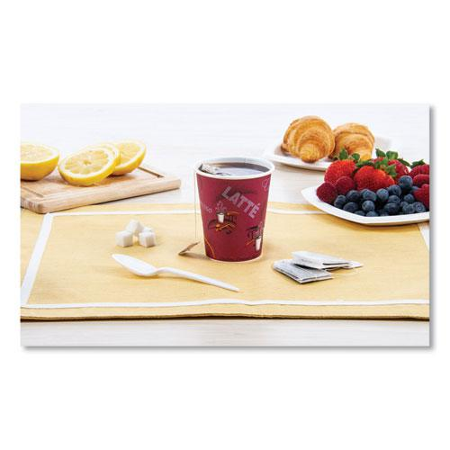 Solo Bistro Design Hot Drink Cups, Paper, 10oz, 50/Pack. Picture 2