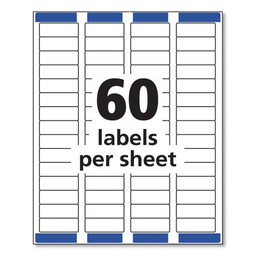 Easy Peel White Address Labels w/ Sure Feed Technology, Laser Printers, 0.66 x 1.75, White, 60/Sheet, 100 Sheets/Pack. Picture 3
