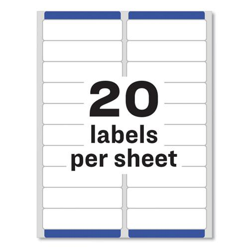 Easy Peel White Address Labels w/ Sure Feed Technology, Laser Printers, 1 x 4, White, 20/Sheet, 25 Sheets/Pack. Picture 2