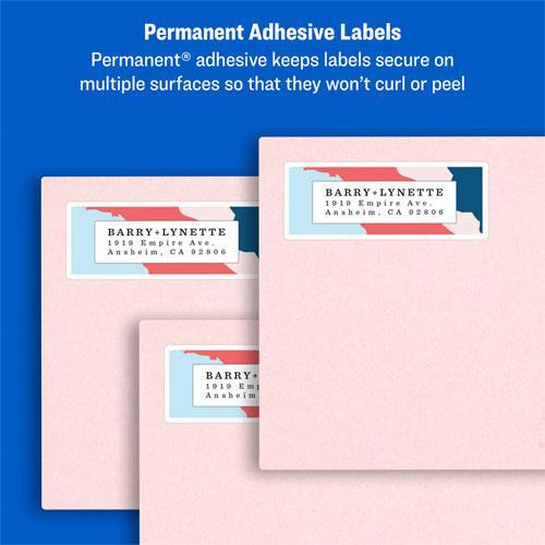 Easy Peel White Address Labels w/ Sure Feed Technology, Laser Printers, 0.66 x 1.75, White, 60/Sheet, 100 Sheets/Pack. Picture 9