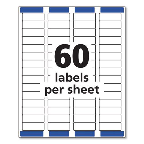 Easy Peel White Address Labels w/ Sure Feed Technology, Laser Printers, 0.66 x 1.75, White, 60/Sheet, 25 Sheets/Pack. Picture 8
