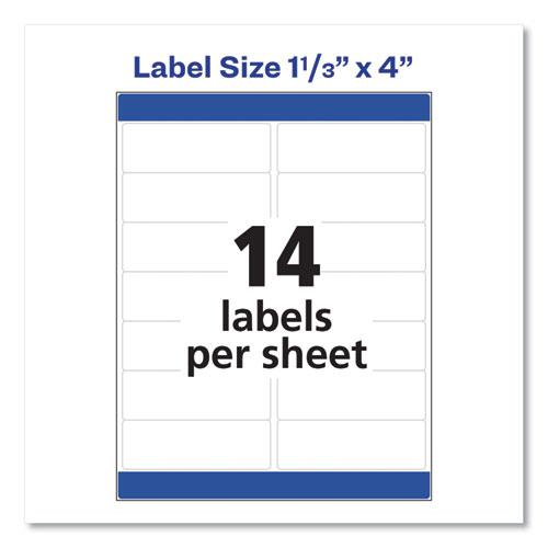 Easy Peel White Address Labels w/ Sure Feed Technology, Laser Printers, 1.33 x 4, White, 14/Sheet, 250 Sheets/Box. Picture 8