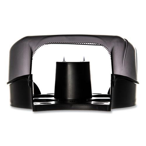 Single JBT Tissue Dispenser, Oceans, 10 1/4 x 5 5/8 x 12, Black Pearl. Picture 3