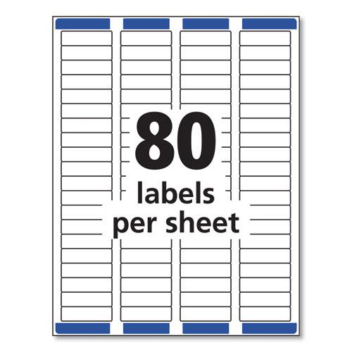 Easy Peel White Address Labels w/ Sure Feed Technology, Inkjet Printers, 0.5 x 1.75, White, 80/Sheet, 25 Sheets/Pack. Picture 7