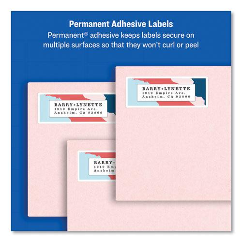 Easy Peel White Address Labels w/ Sure Feed Technology, Laser Printers, 0.5 x 1.75, White, 80/Sheet, 25 Sheets/Pack. Picture 3