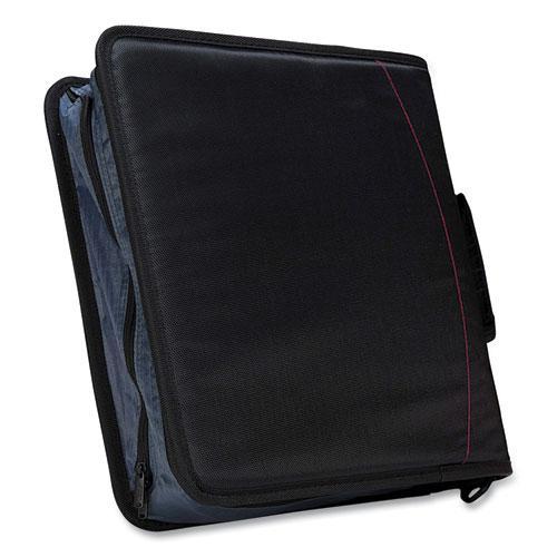 """Mighty Zip Tab Binder, 3 Rings, 3"""" Capacity, 11 x 8.5, Black. Picture 2"""