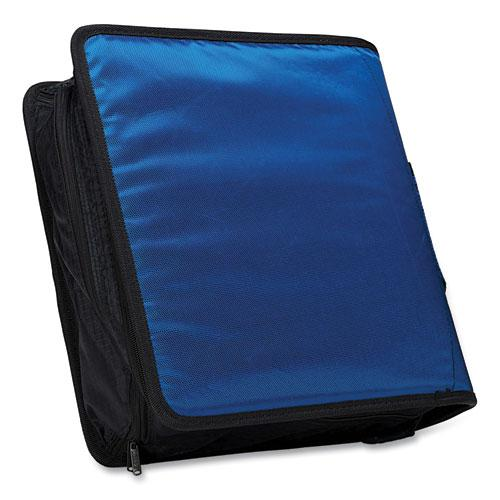 """King Size Mighty Zip Tab Binder, 3 Rings, 4"""" Capacity, 11 x 8.5, Blue. Picture 2"""