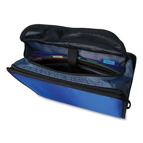 """King Size Mighty Zip Tab Binder, 3 Rings, 4"""" Capacity, 11 x 8.5, Blue. Picture 3"""