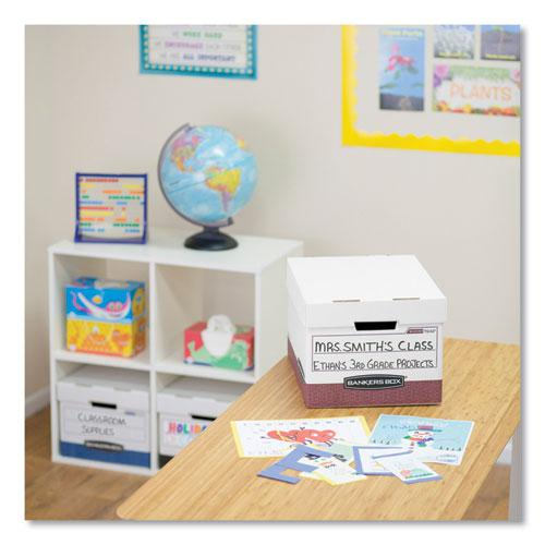 """R-KIVE Heavy-Duty Storage Boxes, Letter/Legal Files, 12.75"""" x 16.5"""" x 10.38"""", White/Red, 12/Carton. Picture 5"""