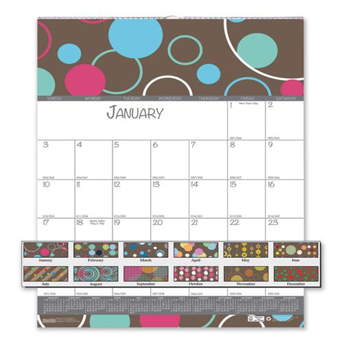 100% Recycled Bubbleluxe Wall Calendar, 12 x 12, 2021. Picture 1