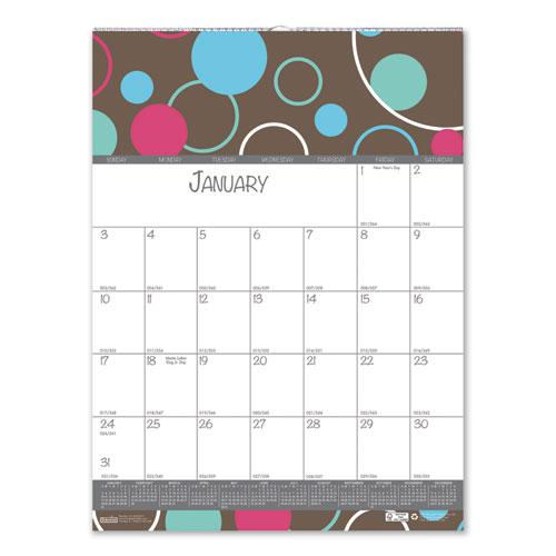 100% Recycled Bubbleluxe Wall Calendar, 12 x 16.5, 2021. Picture 3