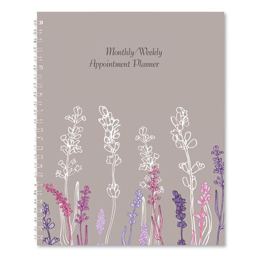 100% Recycled Wild Flower Monthly Weekly Planner, 9 x 7, Wild Flowers, 2021. Picture 4