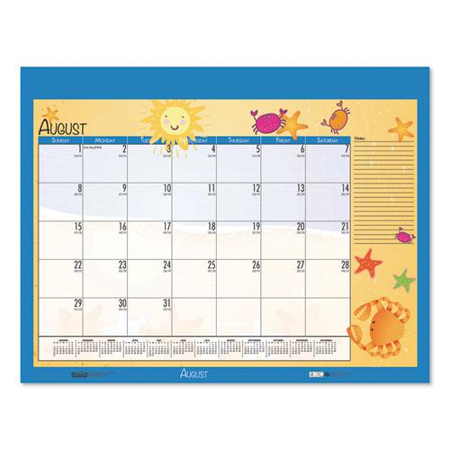 Earthscapes Seasonal Desk Pad Calendar, 22 x 17, Illustrated Holiday, 2021. Picture 8