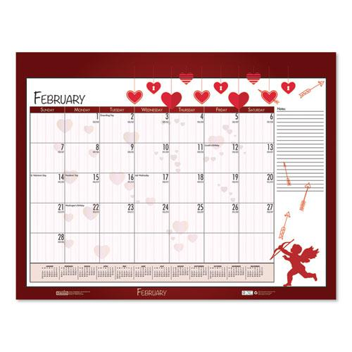 Earthscapes Seasonal Desk Pad Calendar, 22 x 17, Illustrated Holiday, 2021. Picture 4