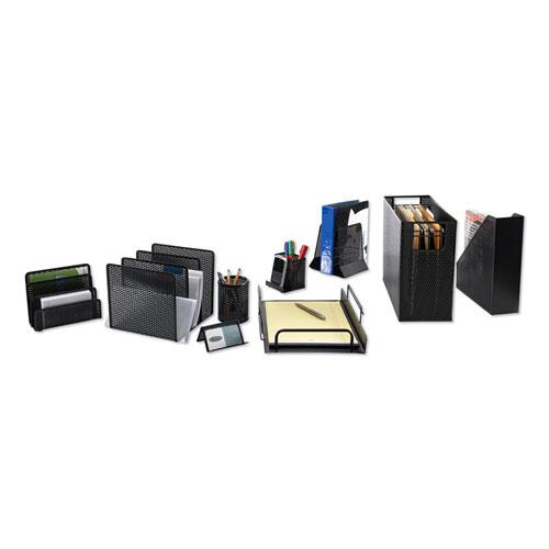 """Urban Collection Punched Metal Letter Sorter, 3 Sections, DL to A6 Size Files, 6.5"""" x 3.25"""" x 5.5"""", Black. Picture 4"""